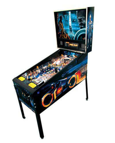 Tron 3D Translite 1st Run pinball at Joystix