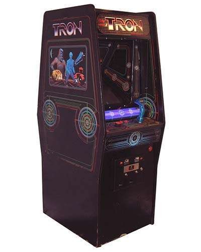 Tron arcade game at Joystix
