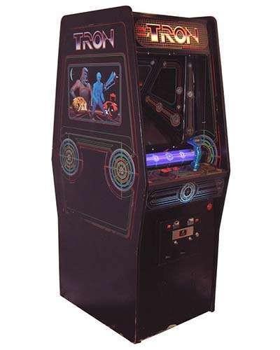 Tron arcade game at Joystix