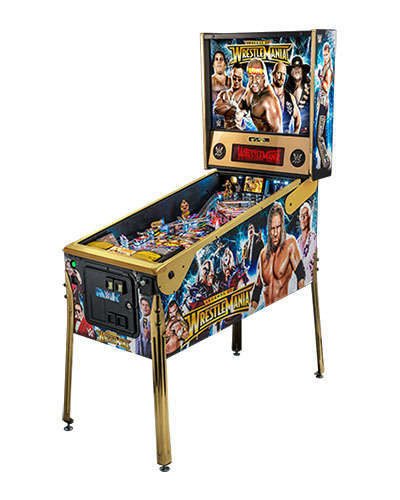 WWE Wrestlemania LE pinball side view at Joystix