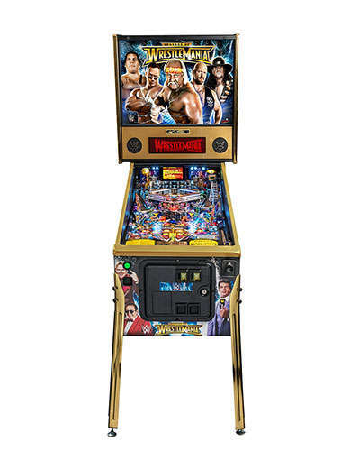 WWE Wrestlemania Limited Edition Pinball front view at Joystix
