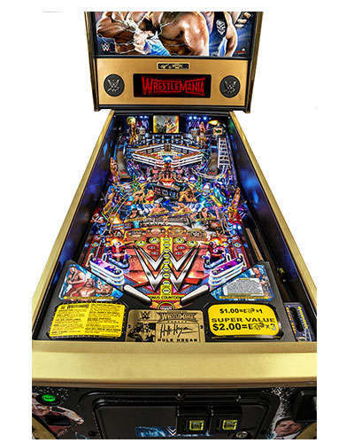WWE Wrestlemania Limited Edition Pinball game details 1 at Joystix