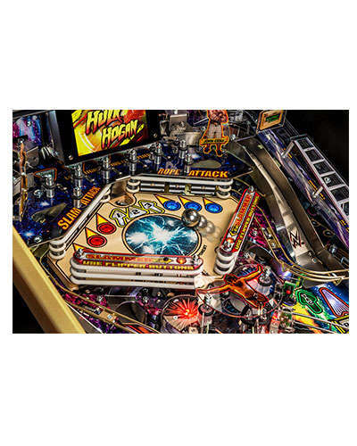 WWE Wrestlemania Limited Edition Pinball game details 3 at Joystix