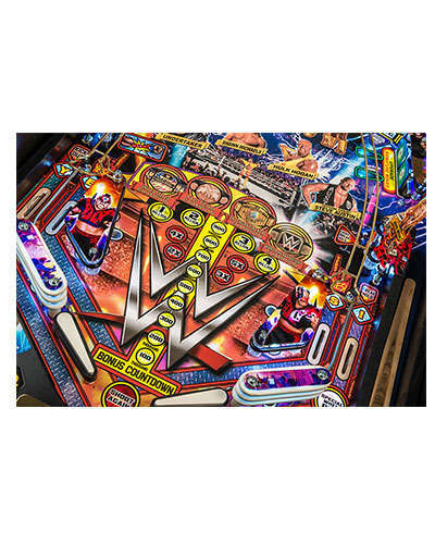 WWE Wrestlemania Limited Edition Pinball game details 4 at Joystix