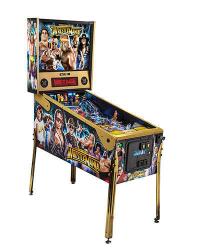 WWE Wrestlemania Limited Edition Pinball side view 2 at Joystix