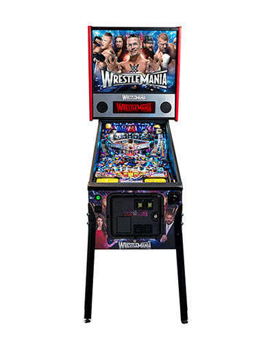 WWE Wrestlemania Pro Pinball front view at Joystix
