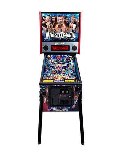 WWE Wrestlemania Pro Pinball front view at Joystix