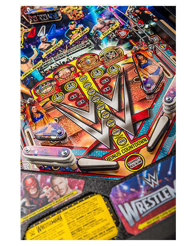 WWE Wrestlemania Pro Pinball game details 3 at Joystix