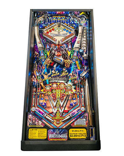 WWE Wrestlemania Pro Pinball playfield at Joystix