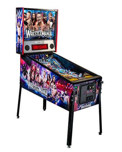 WWE Wrestlemania Pro Pinball side view 2 at Joystix