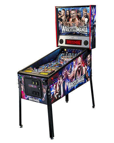 WWE Wrestlemania Pro pinball side view at Joystix