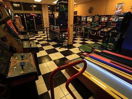 Joystix Showroom skeeball and games