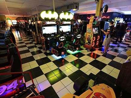 Joystix Showroom with arcade games