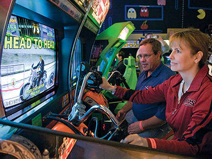 Racing games on Pac Man Fever Friday at Joystix