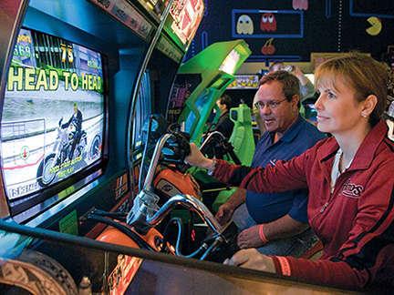Racing games on Pac Man Fever Friday at Joystix