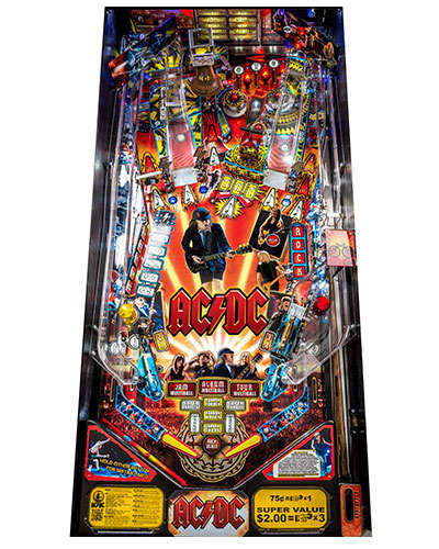 AC DC Pro Vault Edition Pinball playfield at Joystix