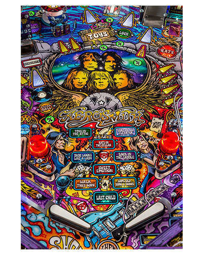 Aerosmith Limited Edition pinball details at Joystix 5