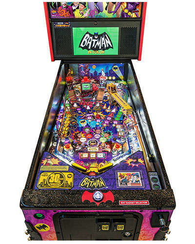 Batman 66 Limited Edition pinball details at Joystix 1
