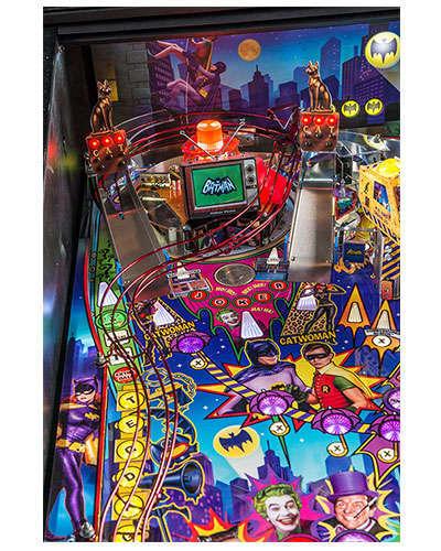 Batman 66 Limited Edition pinball details at Joystix 3