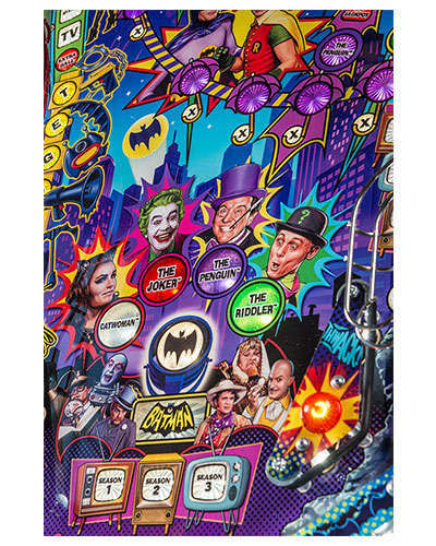 Batman 66 Limited Edition pinball details at Joystix 4