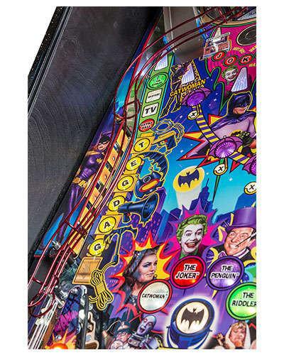 Batman 66 Limited Edition pinball details at Joystix 5