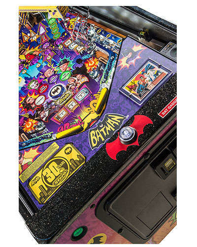 Batman 66 Limited Edition pinball details at Joystix 7