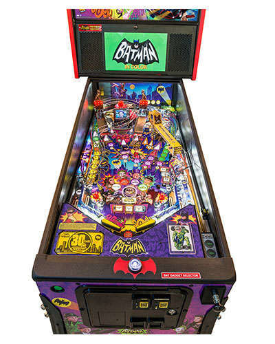 Batman 66 Premium pinball details at Joystix 1