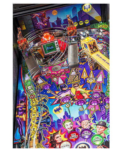 Batman 66 Premium pinball details at Joystix 2