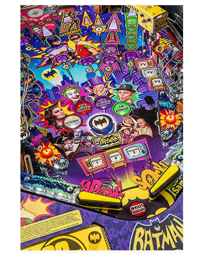 Batman 66 Premium pinball details at Joystix 4