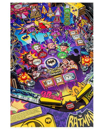 Batman 66 Premium pinball details at Joystix 4