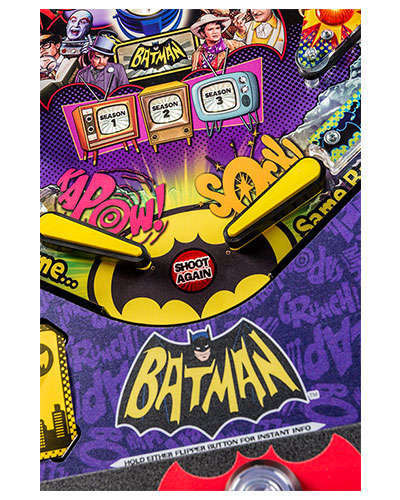 Batman 66 Premium pinball details at Joystix 5