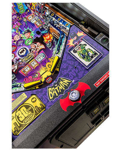 Batman 66 Premium pinball details at Joystix 6