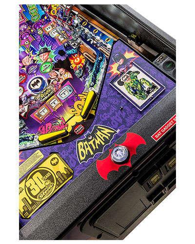 Batman 66 Premium pinball details at Joystix 6