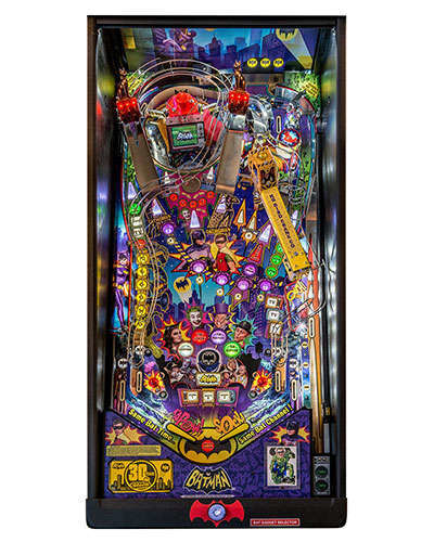 Batman 66 Premium pinball playfield at Joystix
