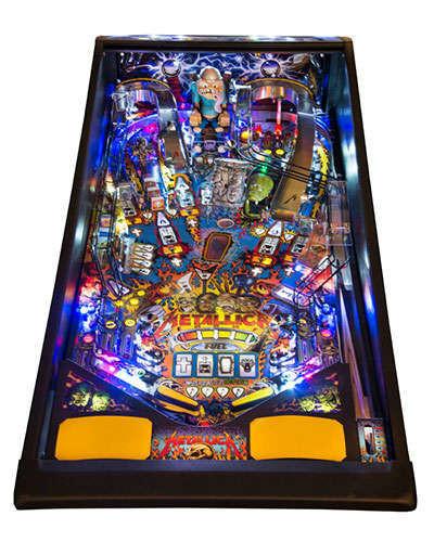 Metallica Premium pinball playfield at Joystix