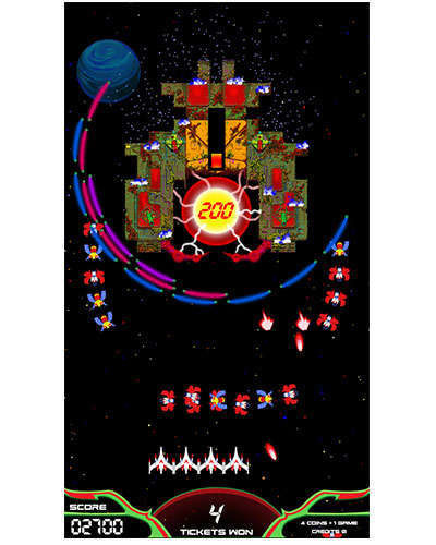 Galaga Assault arcade game screen shot at Joystix 4