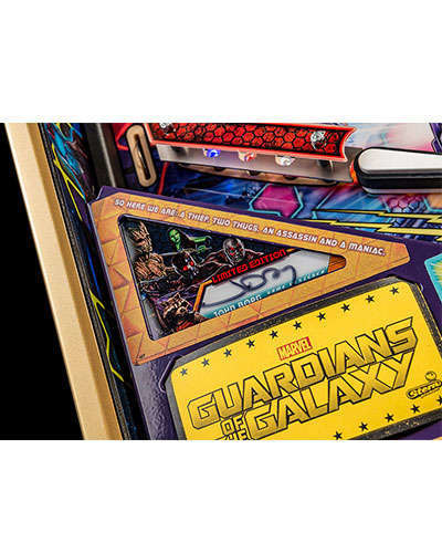 Guardians of the Galaxy Limited Edition Pinball details 1 at Joystix
