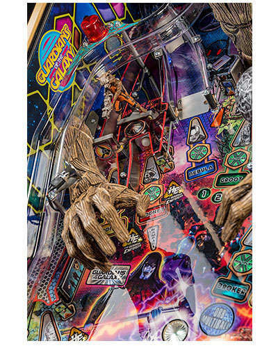 Guardians of the Galaxy Limited Edition Pinball details 3 at Joystix