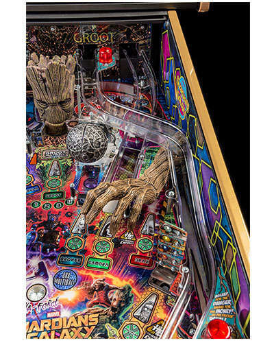Guardians of the Galaxy Limited Edition Pinball details 4 at Joystix