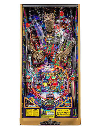 Guardians of the Galaxy Limited Edition Pinball playfield at Joystix