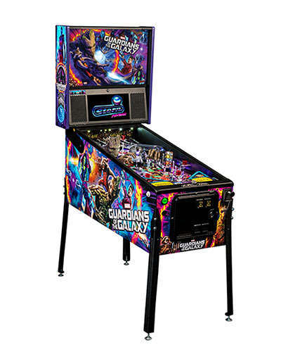 Guardians of the Galaxy Premium Edition Pinball cabinet 2 at Joystix