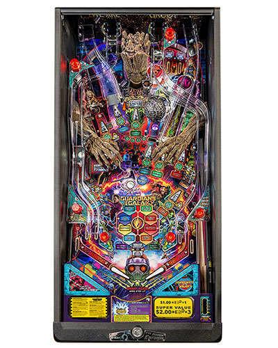 Guardians of the Galaxy Premium Edition Pinball playfield at Joystix