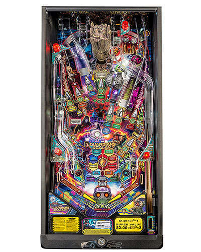 Guardians of the Galaxy Pro Edition Pinball playfield at Joystix
