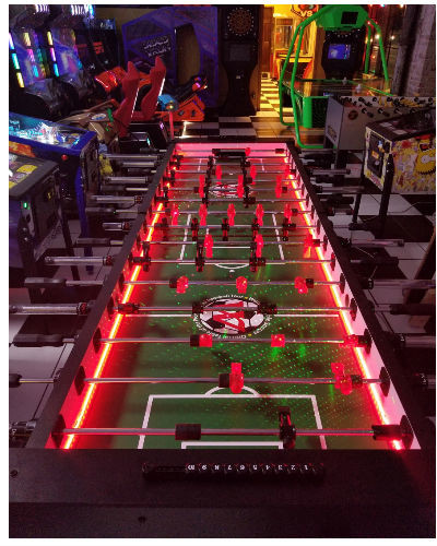 8 player LED foosball at joystix