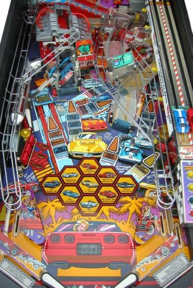 CORVETTE PINBALL PLAYFIELD AT JOYSTIX