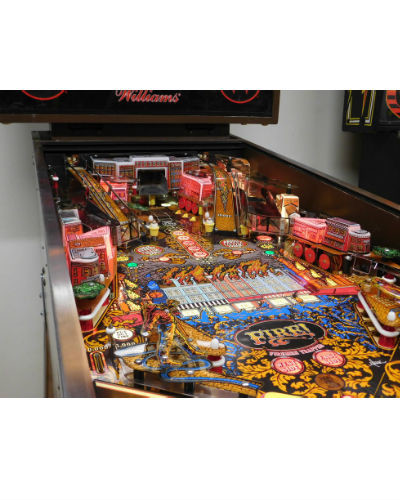FIRE PINBALL PLAYFIELD AT JOYSTIX
