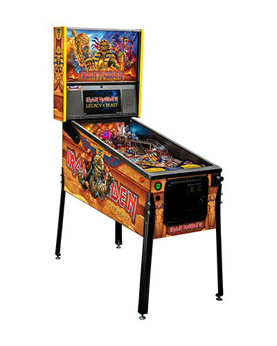 Everyoneäó»s favorite UK metal band is back with their own pinball machine! Sternäó»s newest pinball äóìIron Maiden: Legacy of the Beastäó is the latest release from the leading name in pinball. It has been over 35 years since Stern released the first Iron Maiden pinball machine and it has been worth the wait! Building on the success of their mobile video game, which shares the same name, äóÖLegacy of the Beastäó» stars the bandäó»s mascot äóÖEddieäó» as he fights äóÖThe Beastäó» and his minions through various game levels. The artwork, done by rock poster artist Jeremy Packer (a.k.a. Zombie Yeti), makes the cabinet and playfield pop with color. Multiple reincarnations of äóìEddieäó as well as the beast are shown all over the playfield with an abundance of flames and lightning. Boasting a brand new playfield design, all models will have a Newton ball feature, four flippers (2 on upper playfield), metal ramps (not plastic), 3 spot drop target bank, 2 spinners, 3 pop bumpers and a captive ball mechanism. The premium and Limited Edition (500 made) will have additional playfield features: Interactive sarcophagus ball lock Motorized secret tomb entrance Controlled middle pharaoh laser-cut metal ramp that raises to reveal the underworld scoop. Dual sensing Newton ball Two custom äóÖEddieäó» sculpts The Limited Edition will have these exclusive features: Exclusive mirrored backglass Upgraded sound system featuring an improved speaker cabinet and high-quality JBL branded backbox speakers. Game features the following Iron Maiden songs: Aces High 2 Minutes to Midnight The Trooper Wasted Years Can I Play with Madness Number of the Beast Run to the Hills Powerslave Hallowed Be Thy Name Flight of Icarus Rime of the Ancient Mariner Fear of the Dark