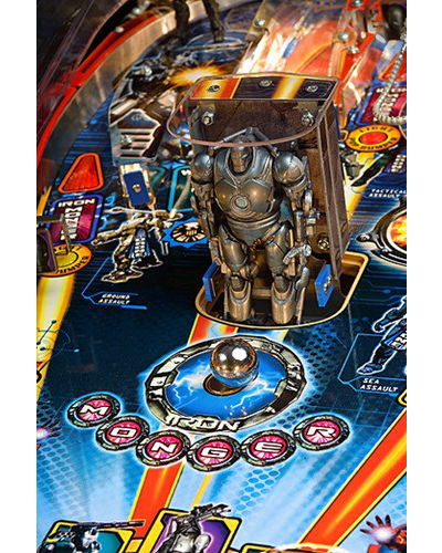 IRON MAN PINBALL PLAYFIELD AT JOYSTIX