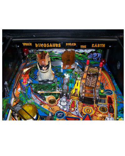 JURASSIC PARK PINBALL PLAYFIELD AT JOYSTIX