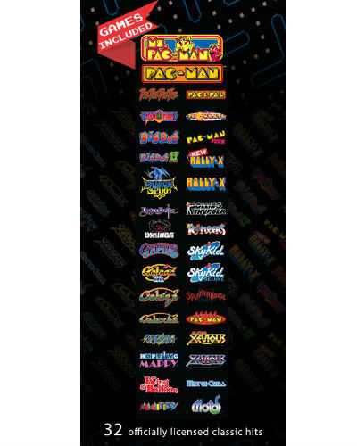 Pac Man's Pixel bash game list chill cab at joystix